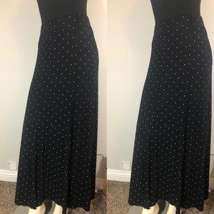 Torrid Polka Dot Seamed Knit Maxi Skirt Size 0 LG